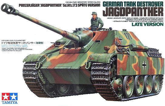 Tamiya 35203 1/35 Model Kit WWII German Jagdpanther Tank Destroyer Late Version