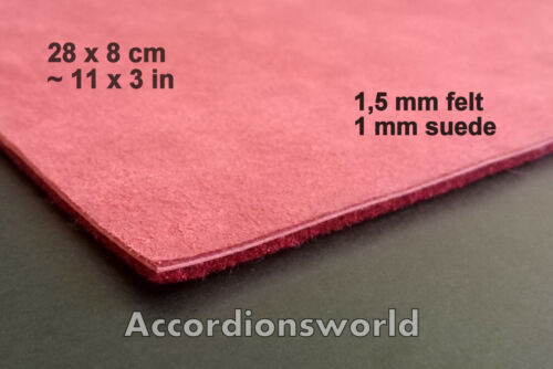 2,5mm Accordion Keyboard Felt//Leather Padding// Akkordeon Klappenbelag Filz//Leder