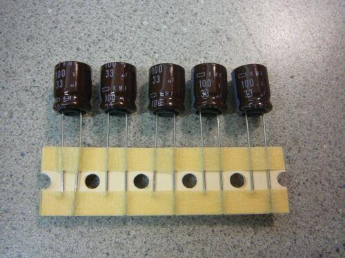 UCC Aluminum Electrolytic CAPACITOR KMF 33uF 100V **NEW**  Qty.5