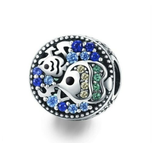 925 Sterling Silver Sea Charms queue de sirène étoile de mer Poissons tropicaux perles charms