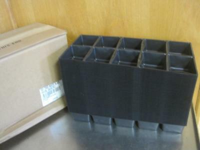 CASE OF 100 NEW 1001 TRAD INSERT TRAYS CONTAINER CELL GREENHOUSE TRADITIONAL BLK