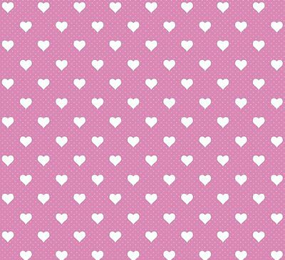 PINK WHITE LOVE HEARTS STICKY BACK PLASTIC SELF ADHESIVE VINYL FILM