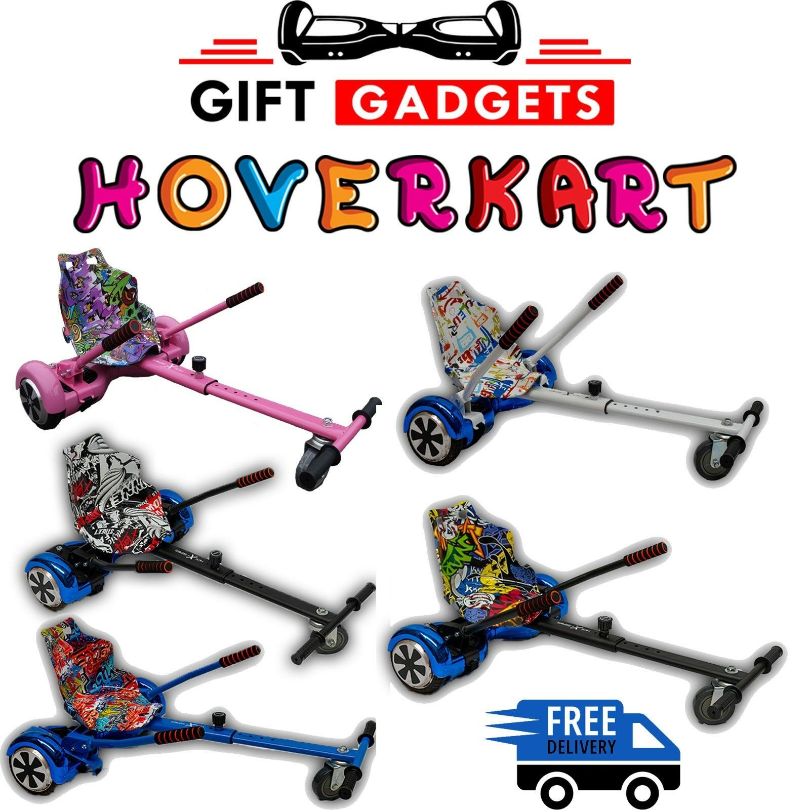 Hover Kart GoKart Hover Cart Smart HoverKart For Air board Fits 6.5 , 8  & 10