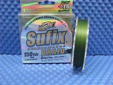 Sufix Performance Braid 6 lb 150 yds Low Vis Green 663-006G