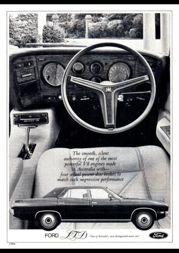 """1975 LTD BY FORD AD A3 CANVAS PRINT POSTER 16.5/""""x11.7/"""""""