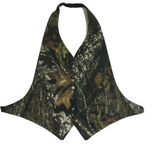 Mossy-Oak-Camouflage-Camo-Open-Back-Tuxedo-Vest-One-Size-Wedding-Prom-Formal