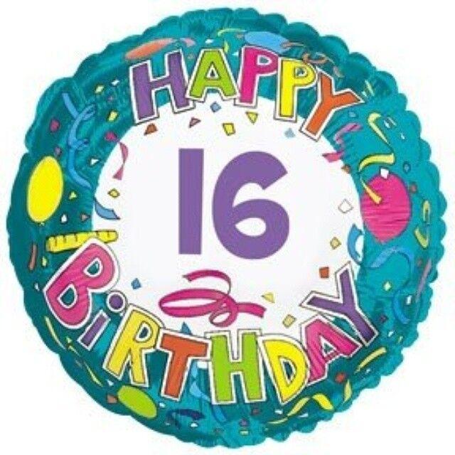 CTI Its Your Happy 16th Birthday 16 Today Boy Girl Foil Helium Balloon 18