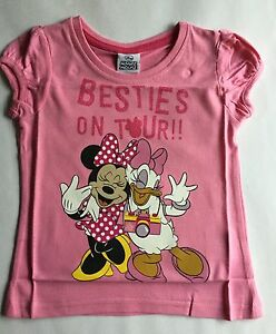 1a6dfc4f0 Girls Pink T Shirt with Minnie Mouse & Daisy Duck Besties on Tour ...