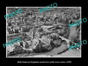 OLD-LARGE-HISTORIC-PHOTO-OF-BATH-SOMERSET-ENGLAND-VIEW-OF-THE-TOWN-c1950-3