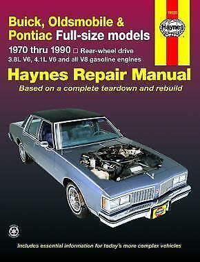 Haynes PONTIAC PARISIENNE (83-86) Owners Service Repair Workshop Manual  Handbook | eBayeBay