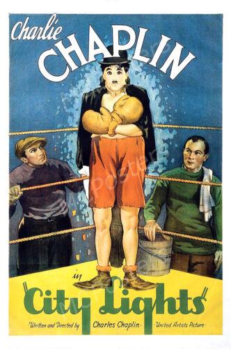 Pôsteres Eua-Charlie Chaplin Luzes Da Cidade Poster Do Filme Acabamento Brilhante-MCP535