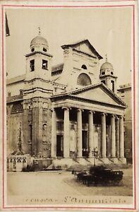 Genoa-Eglise-Italia-Foto-PL17c2n38-Cartolina-Armadio-Vintage-Albumina