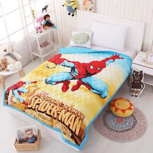 3D-Super-Hero-Spiderman-Car-Summer-Quilt-Blanket-Kids-Cotton-Comforter-Bedding