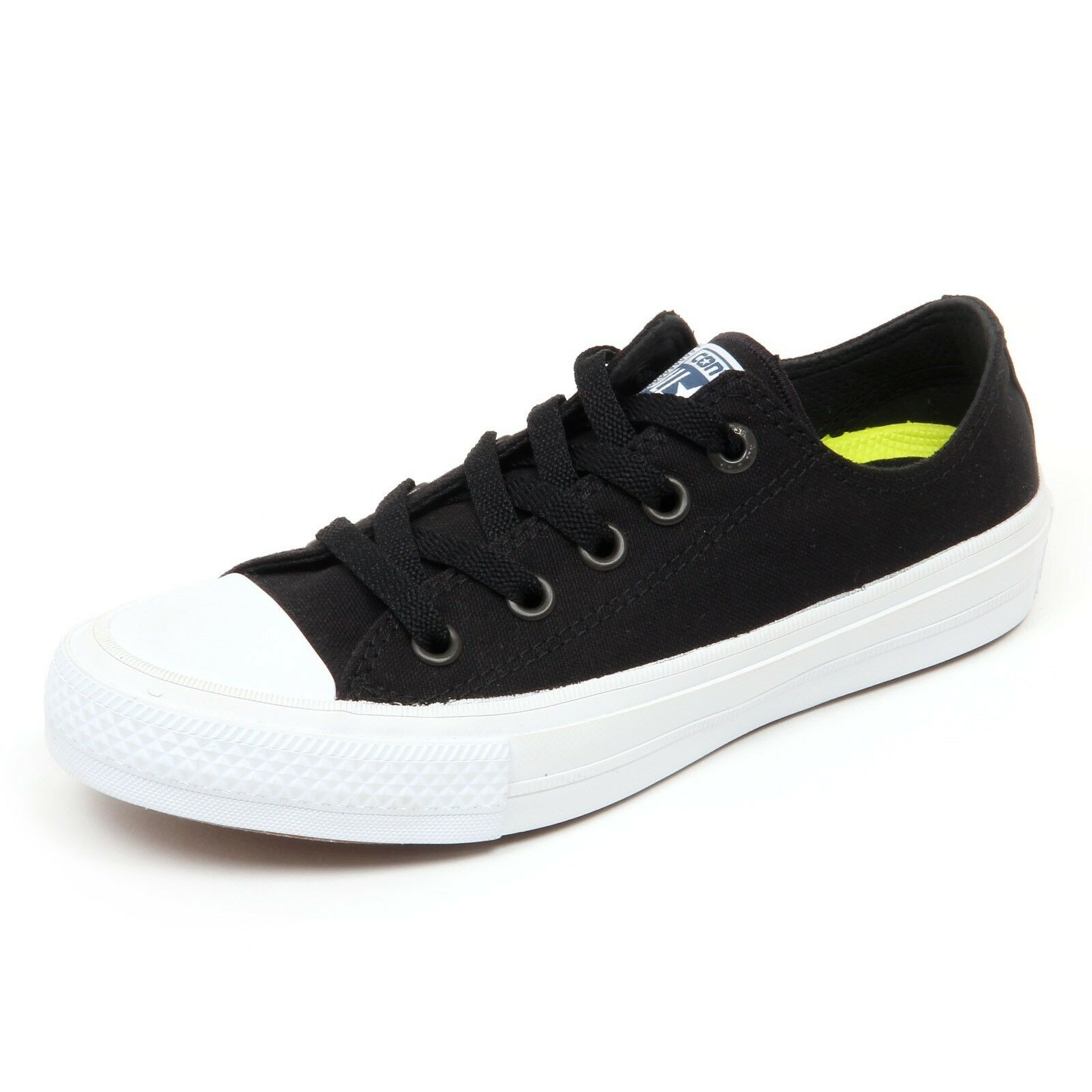1bc0a4aee5e343 D4212 sneaker donna CONVERSE ALL STAR CHUCK TAYLOR II nero shoe woman for  sale online