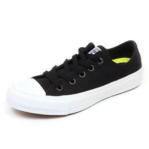 Dettagli su D4212 sneaker donna CONVERSE ALL STAR CHUCK TAYLOR II nero shoe woman