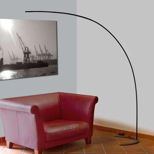 LED Stehlampe Marlon Bogenstehlampe Lampenwelt Stehleuchte Bogenform Puristisch