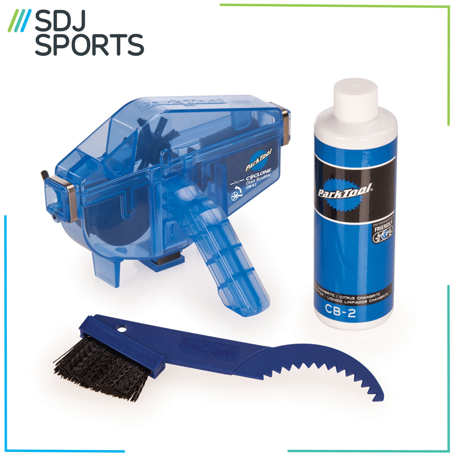 Parque Tool CG2.3  BIKE CHAIN GANG CLEANING SYSTEM CYCLE KIT DEGREASER CLEANER  100% garantía genuina de contador