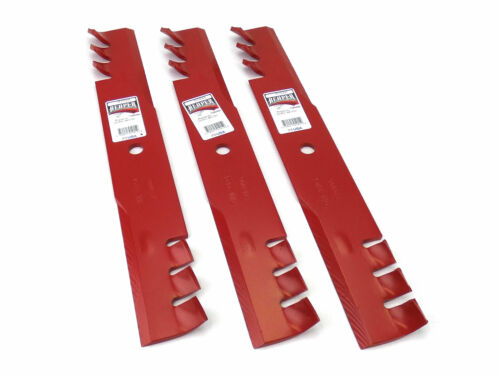 """Reaper 52/"""" HD Toothed Mulching Blades for Scag Gravely Toro Made in USA 3"""