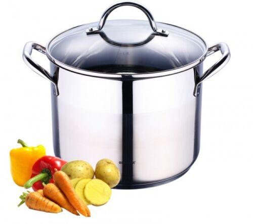 8,2 L acier inoxydable Casserole Induction Pot /& Couvercle Pot ustensiles de cuisine NEUF