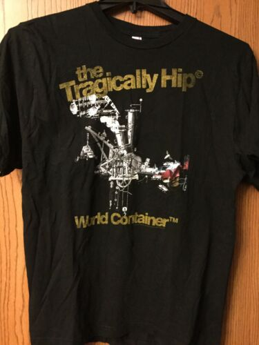 Tragically Hip   Tour 2007 Black Shirt.  L.  Gold