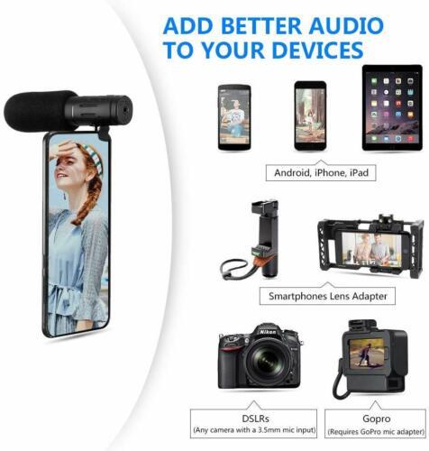 Entrevista micrófono de cámara de grabación de vídeo para Teléfono Celular Nikon Canon DSLR Gopro