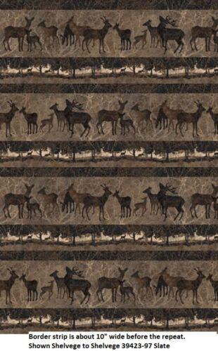 Deerhurst Stonehenge Quilt fabric Cotton Northcott 39421-97 Slate Scenic Deer