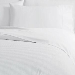 blanche ou crème Paire de coton égyptien 300 fils de taies d/'oreiller