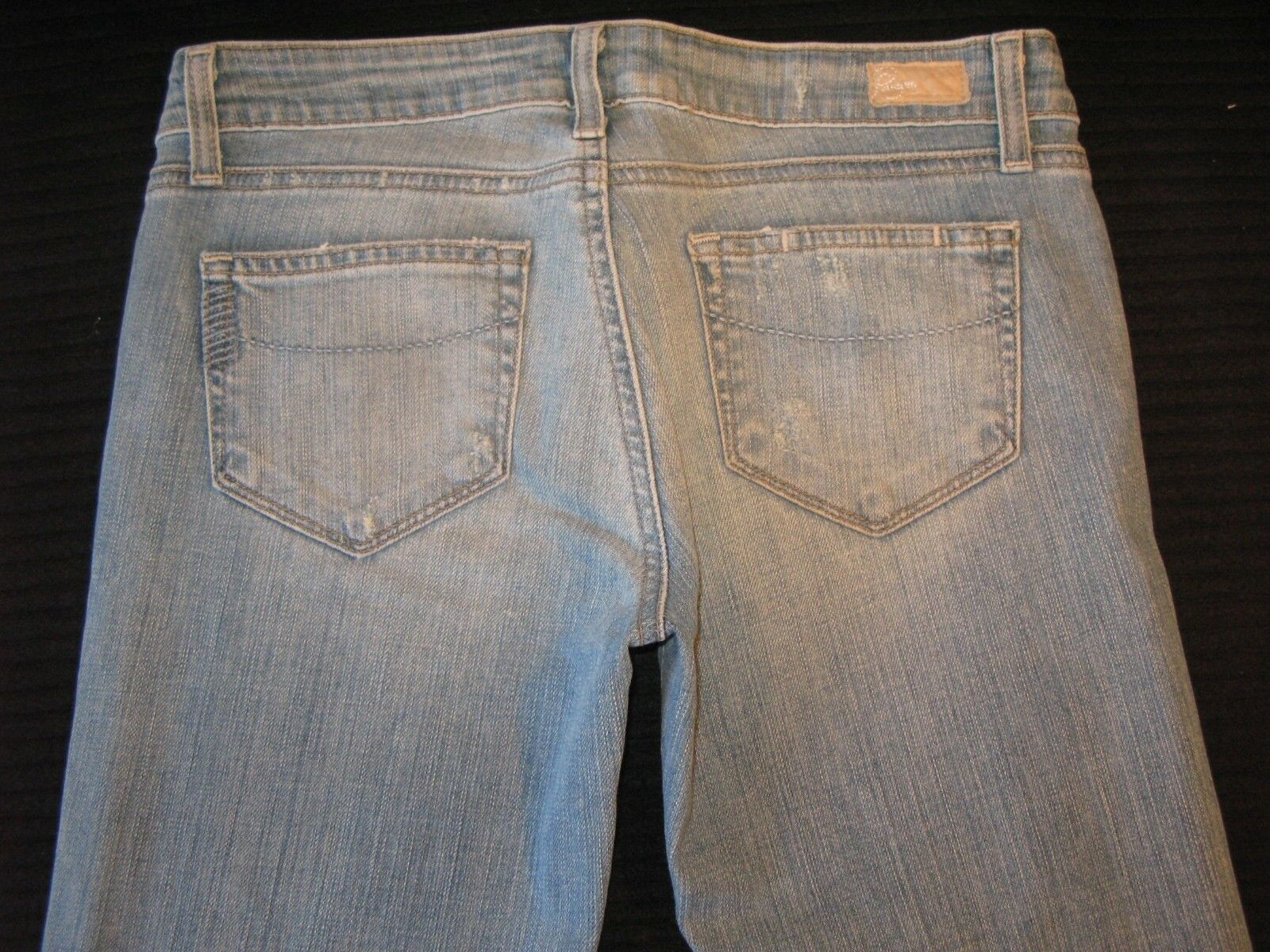 Paige Premium Jeans Hollywood Hills Classic Rise Bootcut Sz 25 Distressed