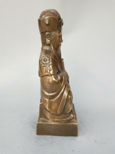 Details about  /Chinese pure brass kitchen god Buddha statue