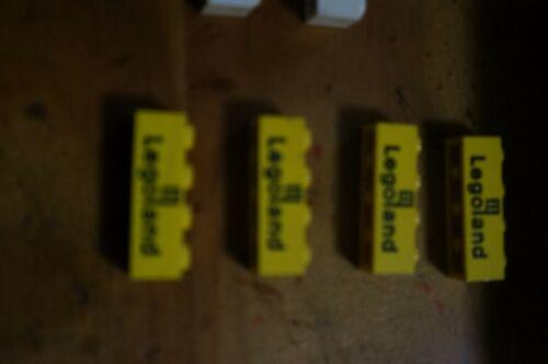 LEGO 3010p30 Brick 1 x 4 with Black Legoland Logo Pattern