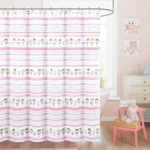 Image Is Loading Nicole Miller Kids Fabric Shower Curtain BALLET DANCER