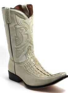 120 Stivali da Cowboy Westernstiefel Texas Boots Western Rancho Coccodrillo 40