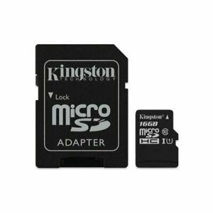 Kingston 16GB Clase 10 MicroSD Tarjeta de Memoria - SDCS/16GBSP