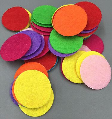 100PCS Mixed Colors Die Cut Felt Circle Appliques Cardmaking decoration 30mm