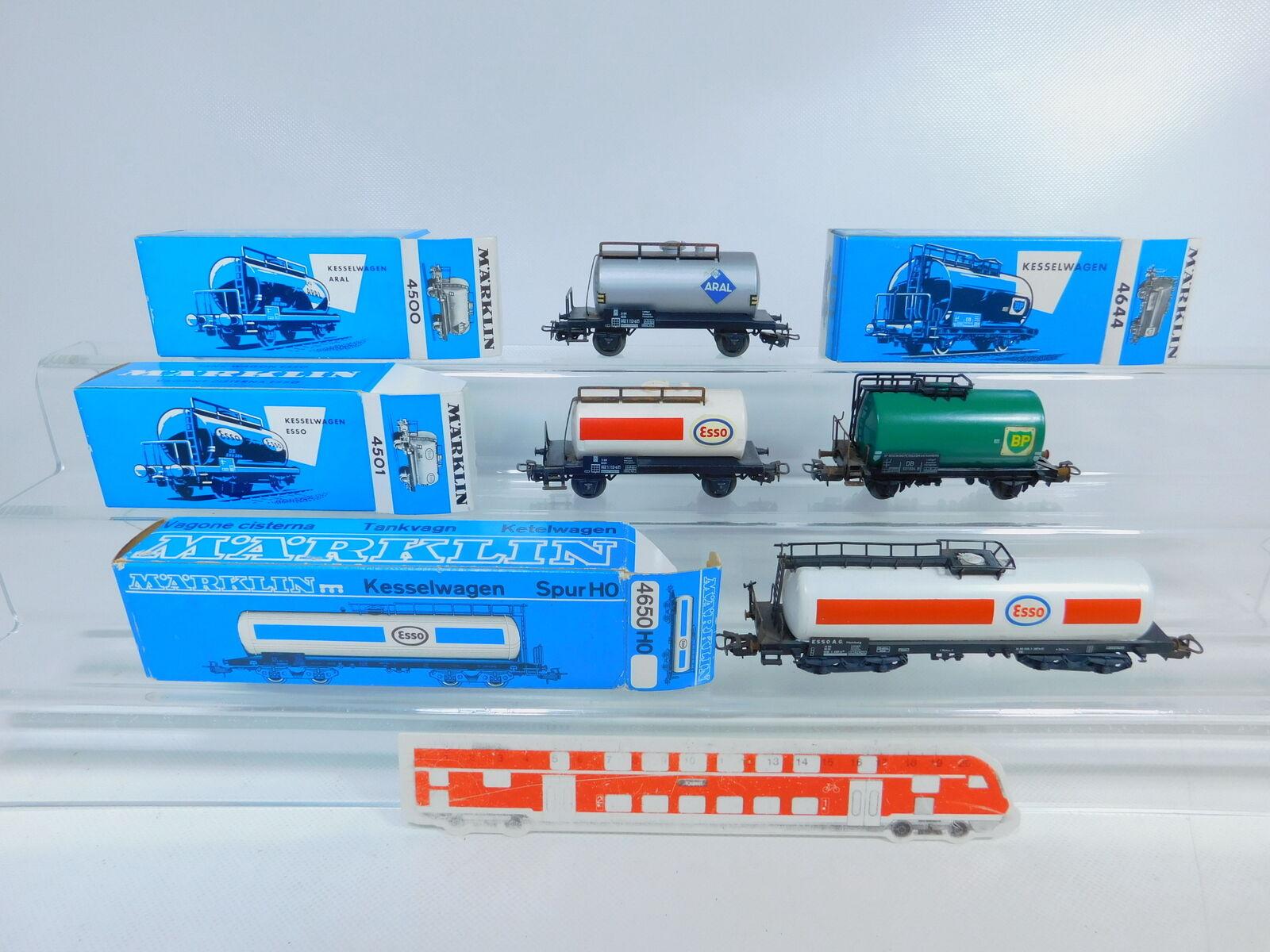 BZ710-0, 5x Märklin H0 AC Tank Cars; Rust Rust, 4500+4501+4644+4650, OVP
