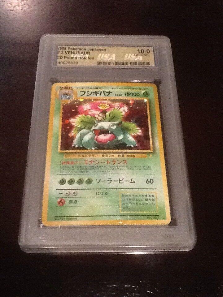 Pokemon Holo Venusaur No.003 Japanese CD Promo USA Graded 10.0 GEM MT