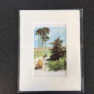 LOVELY-MOUNTED-WINNIE-THE-POOH-PRINTS-8X6-034-IDEAL-NURSERY-GIFT-7