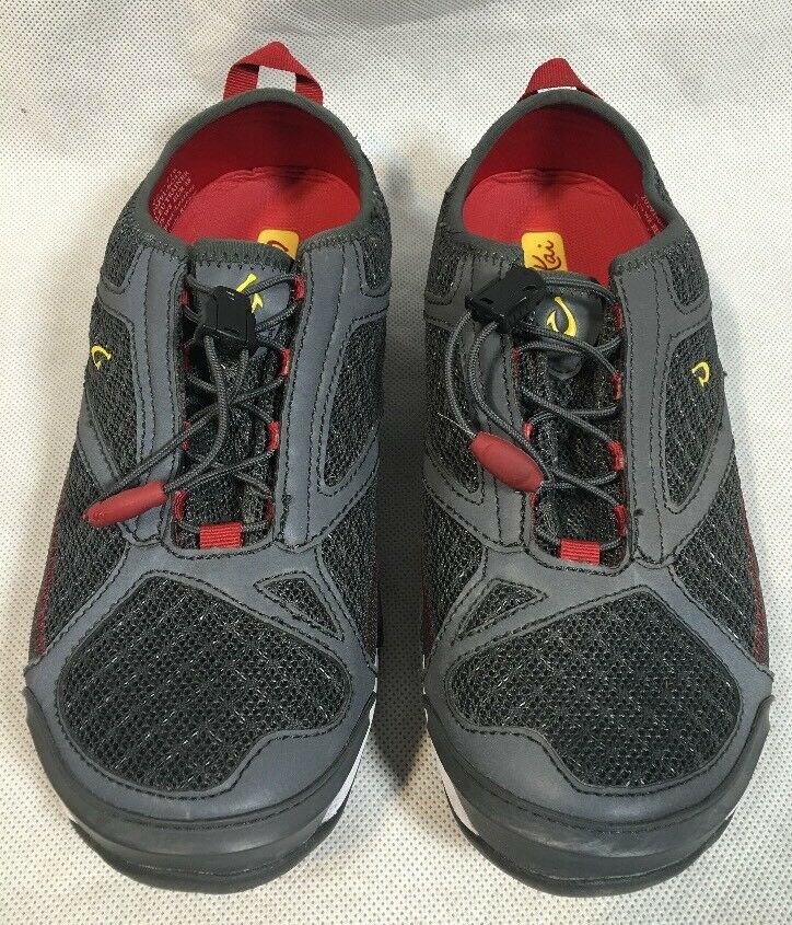 ❤️OluKai Eleu Trainer Damenschuhe Dark Shadow/Deep ROT Schuhes Größe 8