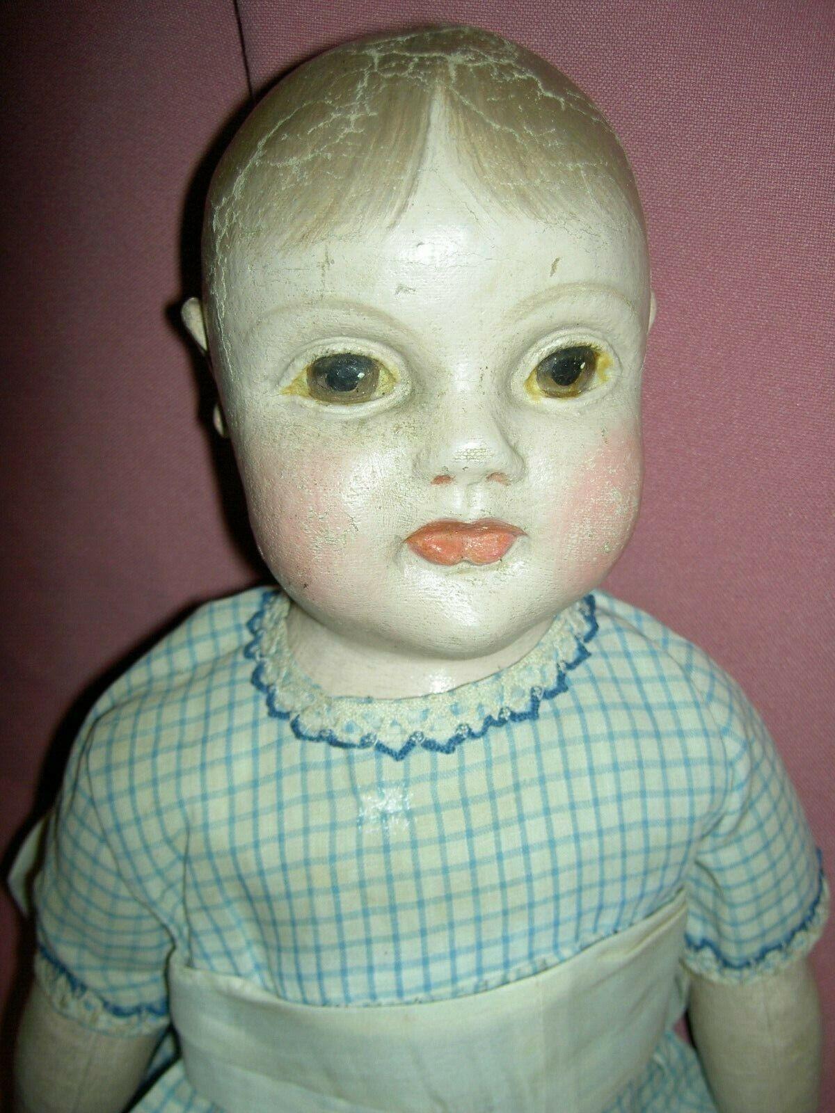 Fabuloso Y Raro Antiguo Muñeco Bebé de tela de Filadelfia por jb Sheppard & Co.