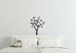 Tree-With-Ravens-Inspired-Design-Wall-Art-Halloween-Scary-Decal-Vinyl-Sticker