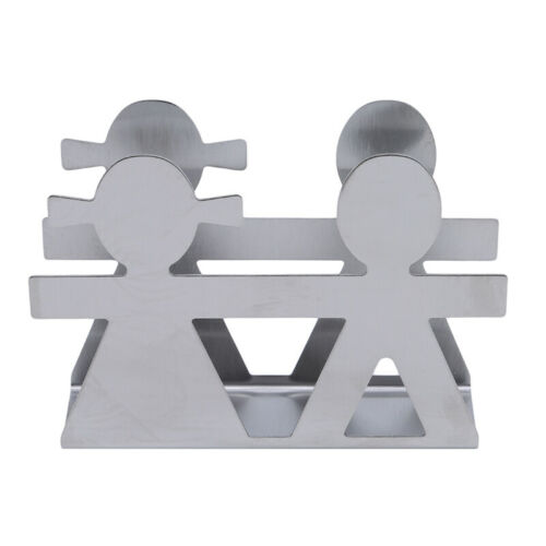 Stainless Steel Paper Napkin Holder Cutlery Hollow Dining Table Decor Rack MP