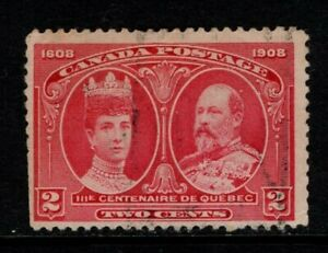 Canada 1908 Quebec Tercentenary 2c Two Cents SG190,  Sc 99 Used see note