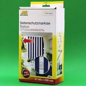 seitenmarkise f r balkon inkl sonnensegel sichtschutz peddy shield 630517 ebay. Black Bedroom Furniture Sets. Home Design Ideas