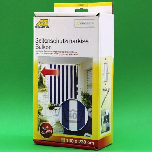 Sonnensegel Sichtschutz Peddy Shield 630517 Seitenmarkise für Balkon inkl