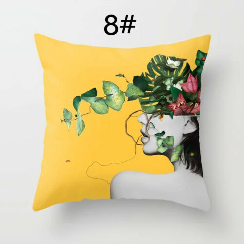 Yellow Pineapple Print Back Cushion Cover Pillow Case Car Office Home Decor