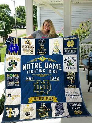 Noda-Notre Dame Fighting Irish fleece,sherpa blanket