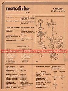 YAMAHA XT 550 Type 5Y3 1982 Fiche Technique Moto 000418 - France - État : Trs bon état: Livre qui ne semble pas neuf, ayant déj été lu, mais qui est toujours en excellent état. La couverture ne présente aucun dommage apparent. Pour les couvertures rigides, la jaquette (si applicable) est incluse. Aucune p - France