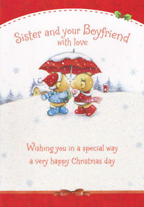 image is loading cute sister and her boyfriend christmas card 3 - Boyfriend Christmas Card