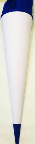 weiße Schultüte mit farbiger Manschette 70 cm Rohling rund URSUS Dm 20 cm