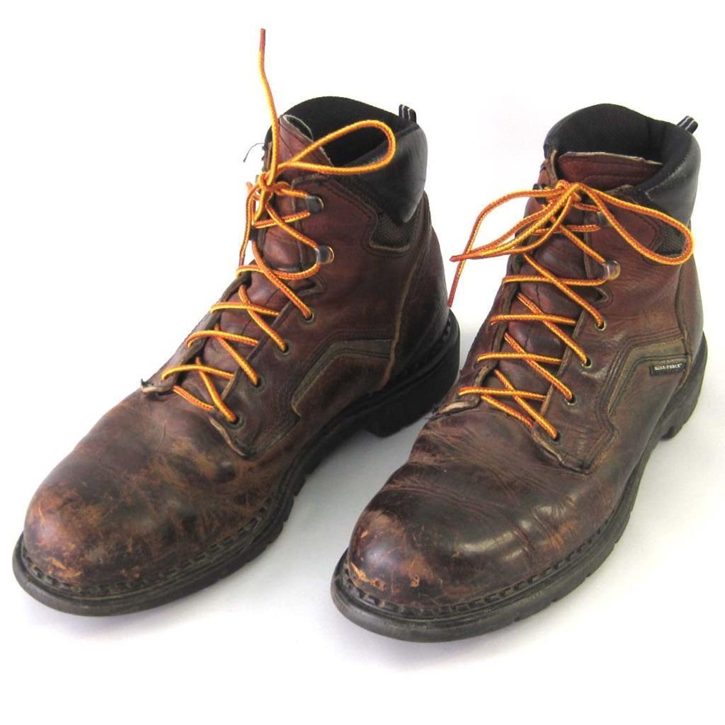 Red Wing Lace Up Leather Work Boots Size 12 B EH  Made USA DynaForce 926